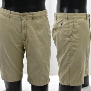 Men's Polo Ralph Lauren Khaki Beige Shorts Size34